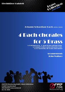 4 Bach Chorales For 5 Brass